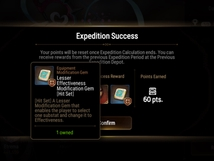 Finish Expedition 3, can't modify gear.
