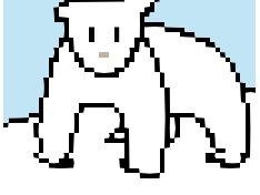 얼음 위 북극곰