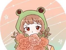 개구리+꽃다발=??